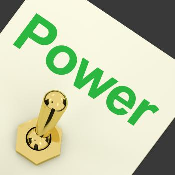 Power Switch As Symbol For Energy And Industry