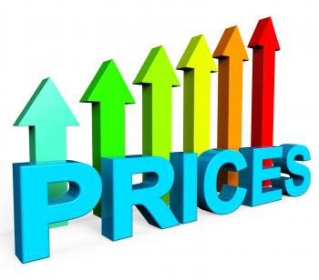 Prices Increase Represents Financial Report And Diagram