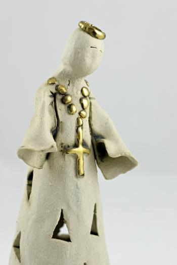 Priest like statue