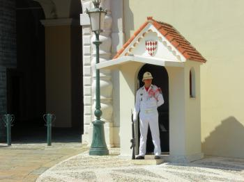 Prince's Palace of Monaco. Guarded