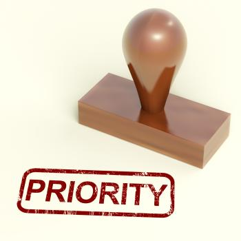 Priority Rubber Stamp Shows Urgent Rush Delivery