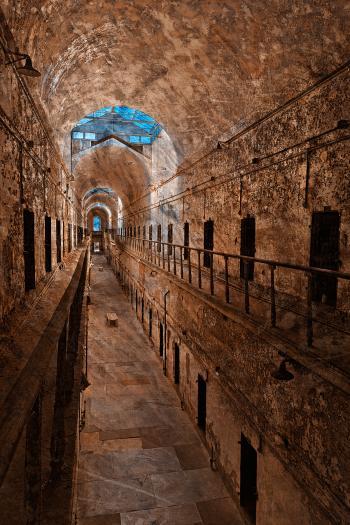 Prison Corridor - Sepia Blues