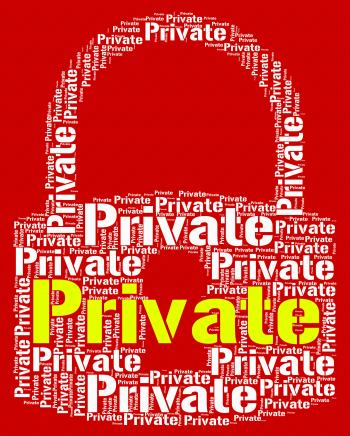 Private Lock Shows Confidentially Words And Word