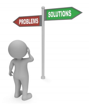 Problems Solutions Sign Means Difficult Situation And Complication 3d
