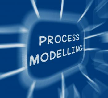 Process Modelling Diagram Displays Representing Business Processes