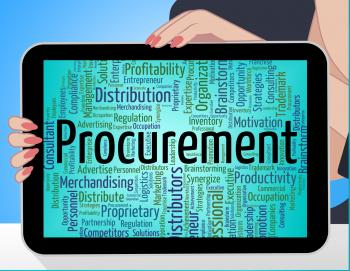 Procurement Word Shows Text Buying And Buyers