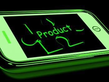Product On Smartphone Showing Online Shopping