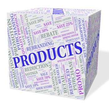 Products Cube Shows Shop Words And Goods