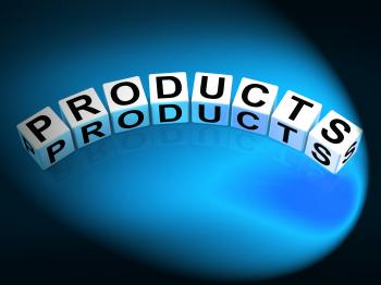 Products Dice Show Goods in Production to Buy or Sell
