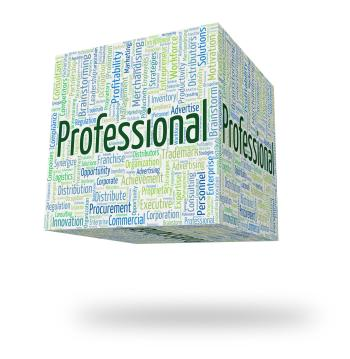 Professional Word Shows Professions Specialist And Expertise