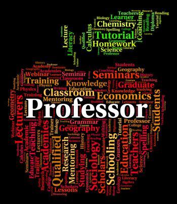 Professor Word Represents Lecturers Teacher And Professors