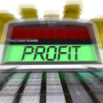 Profit Calculated Means Surplus Income And Revenue