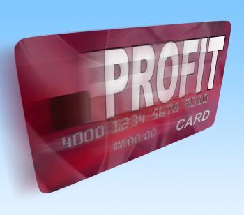 Profit on Credit Debit Card Flying Shows Earn Money