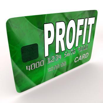 Profit on Credit Debit Card Shows Earn Money