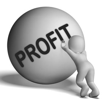 Profit Uphill Character Shows Cash Wealth Revenue