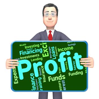 Profit Word Represents Text Profits And Words