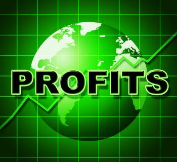 Profits Graph Shows Earn Investment And Diagram