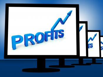 Profits On Monitors Showing Profitable Incomes