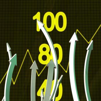 Progress Arrows Represents Business Graph And Advance
