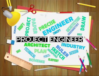 Project Engineering Indicates Mechanics Career And Plan