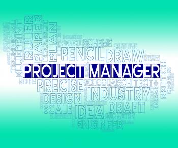Project Manager Means Plan Venture And Bosses
