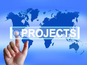 Projects Map Indicates International or Internet Task or Activity