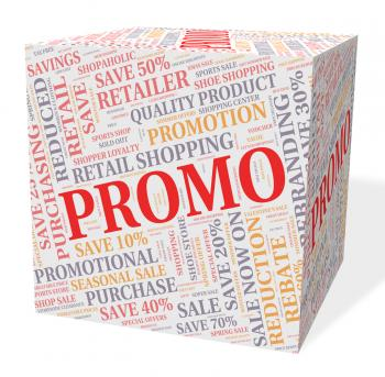 Promo Cube Shows Savings Cheap And Discounts