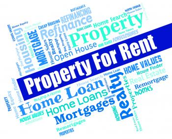 Property For Rent Means Real Estate And Apartments