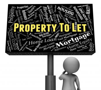 Property To Let Means For Rent And Board