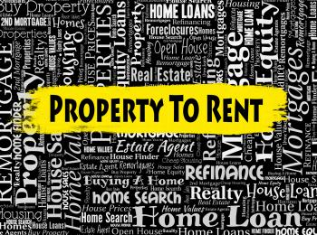 Property To Rent Shows Real Estate And Apartments
