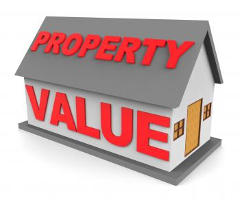 Property Value Shows Current Prices And Cost 3d Rendering