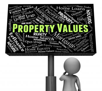 Property Values Shows Real Estate And Amount