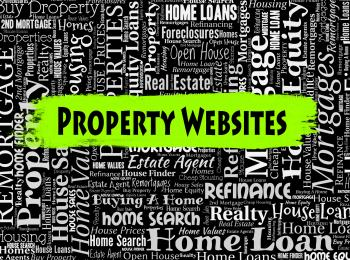 Property Websites Indicates Real Estate And Apartment