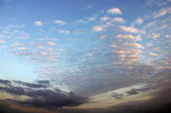 Puffy clouds