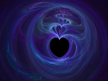 Purple and Blue Heartfractal