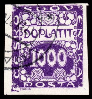 Purple Art Nouveau Stamp