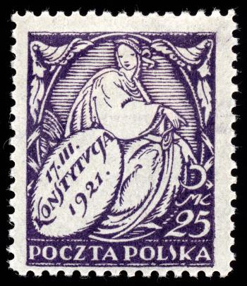 Purple New Constitution Stamp