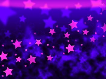 Purple Stars Background Shows Celestial Light And Starry