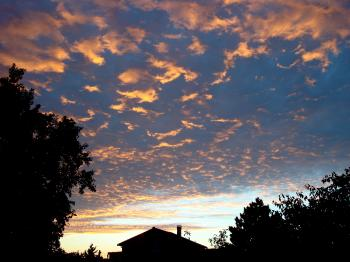 Purple trail of clouds