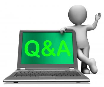Qa Laptop Shows Question And Answer Online