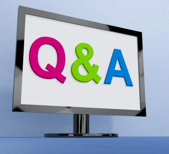 Qa On Monitor Shows Questions And Answers Online