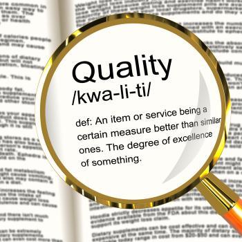 Quality Definition Magnifier Showing Excellent Superior Premium Produc
