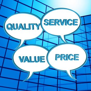 Quality Words Shows Approval Approved And Satisfaction