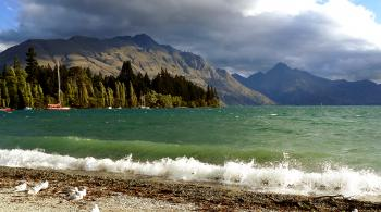 Queenstown Bay.Lake Wakatipu. NZ