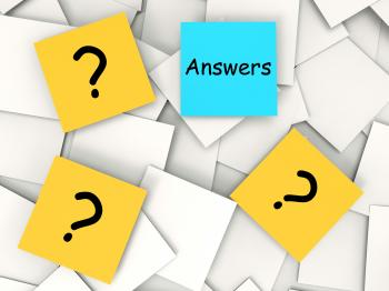 Questions Answers Post-It Notes Mean Inquiries And Solutions