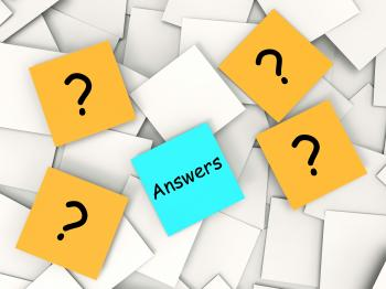 Questions Answers Post-It Notes Show Asking And Finding Out