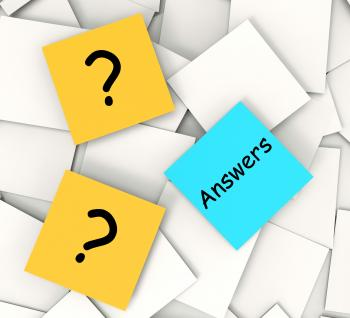 Questions Answers Post-It Notes Show Questioning And Explanations