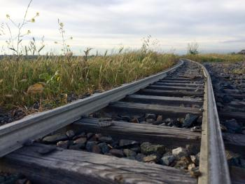Railroad Track Against Sky