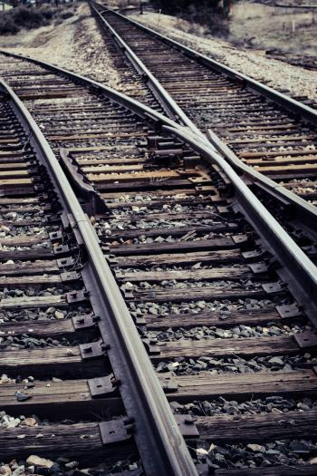 Railways are turning in different directions