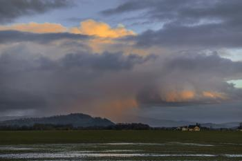 Rain Clouds over Willamette Valley Farm, Oregon